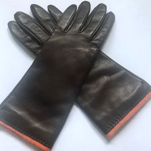 NWOT! Sim Cashmere Lined Italian Leather Gloves